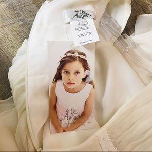 Us Angels Dresses - Us Angels ivory communion flower girl dress